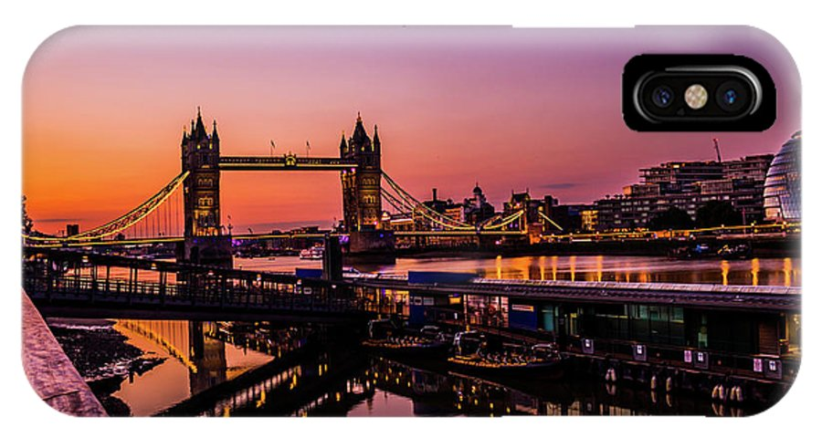 London IPhone X Case featuring the photograph London Tower Bridge. by Nigel Dudson