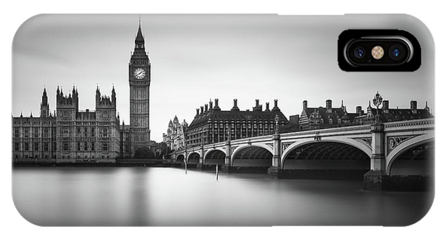House Of Parliament IPhone X Case featuring the photograph London, Westminster Bridge by Ivo Kerssemakers