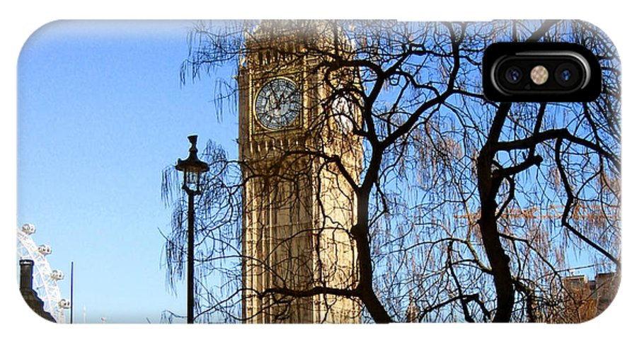 London IPhone X Case featuring the photograph London's Big Ben by Madeline Ellis