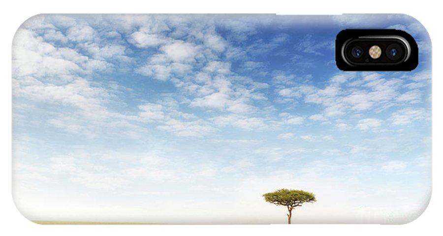 Mara IPhone X Case featuring the photograph Lone Acacia Tree In The Masai Mara by Jane Rix