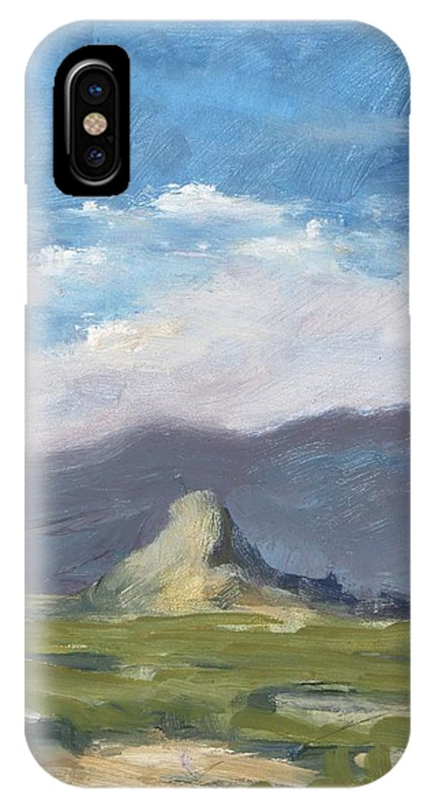Lone Butte IPhone X Case featuring the painting Lone Butte by Robert James Hacunda