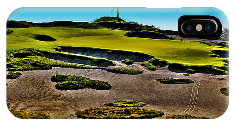Hole #15 At Chambers Bay IPhone X Case featuring the photograph Lone Fir - Hole #15 At Chambers Bay by David Patterson