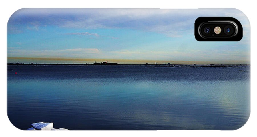 Landscape IPhone X Case featuring the photograph Lone Ice by Anthony Jones