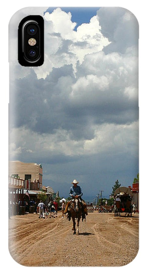 Arizona IPhone X Case featuring the photograph Lone Rider by Joe Kozlowski