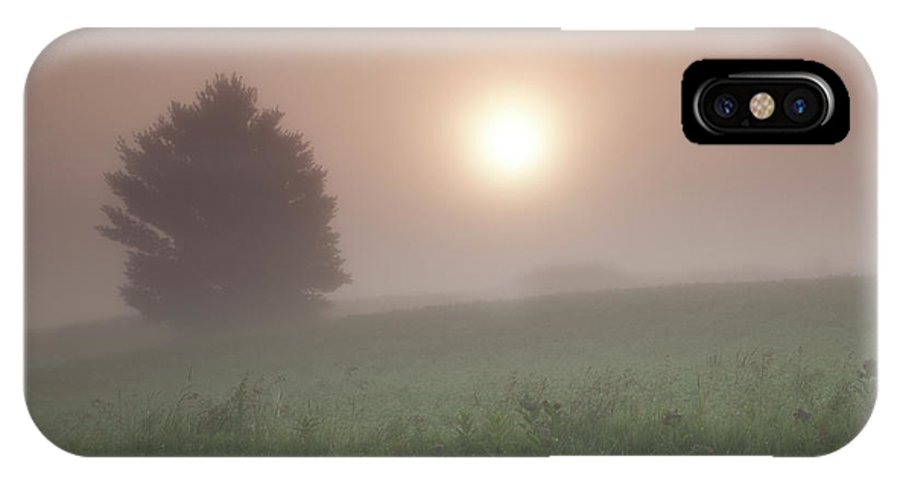 Fog. Foggy. Mist IPhone X Case featuring the photograph Lone Tree In The Fog by Kevin Kludy