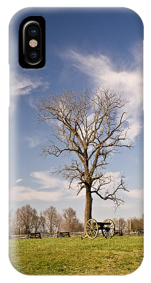 Civil IPhone X Case featuring the photograph Loneliness Of The Battle Field by Douglas Barnett