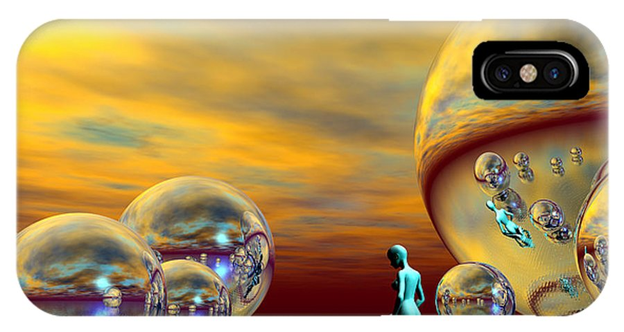 Bryce IPhone X Case featuring the digital art Loneliness by Sandra Bauser Digital Art