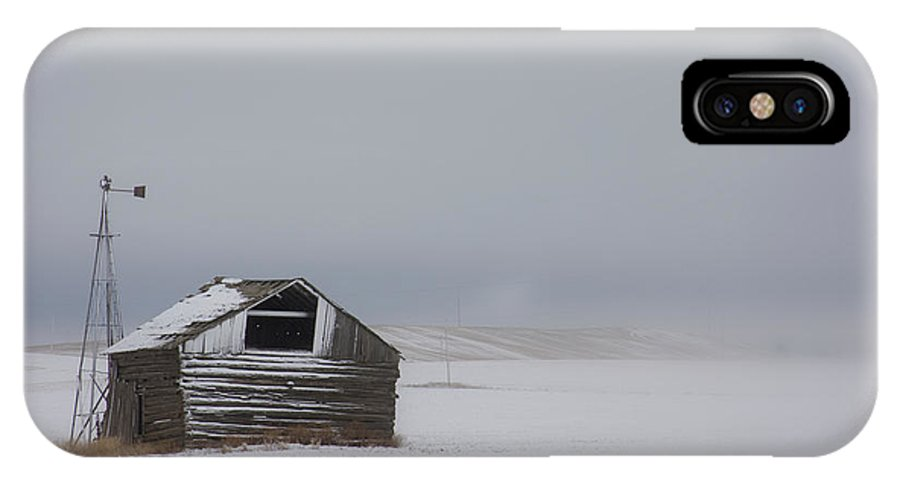 Barn IPhone X Case featuring the photograph Lonely Existence by Idaho Scenic Images Linda Lantzy