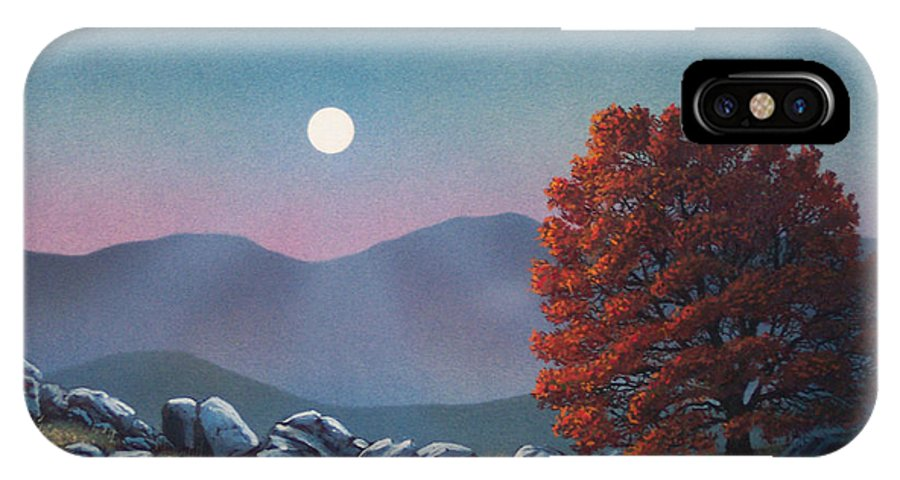 Landscape IPhone Case featuring the painting Lonely Sentinel by Frank Wilson