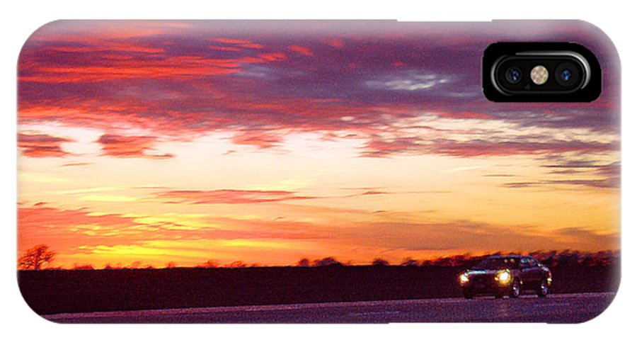 Landscape IPhone X Case featuring the photograph Lonesome Highway by Steve Karol