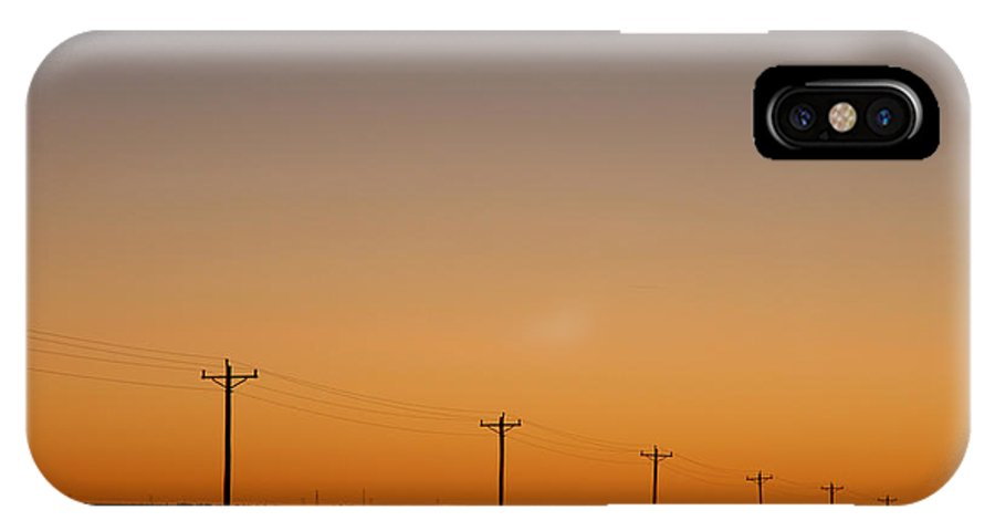 Sunset IPhone X Case featuring the photograph Lonesome Road - Wyoming by D'Arcy Evans