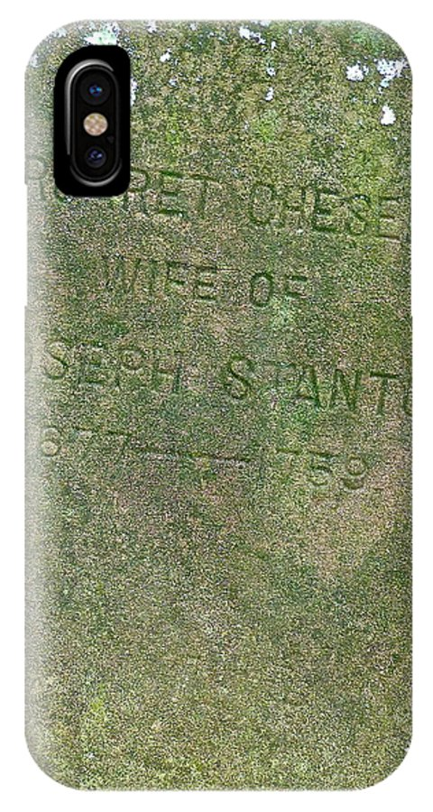 Cemetery IPhone X Case featuring the photograph Long Ago by Diana Hatcher