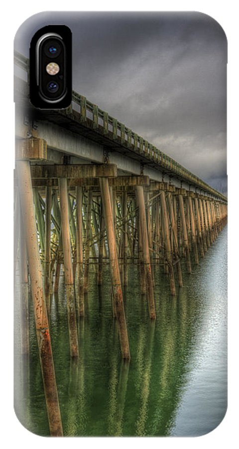 Scenic IPhone X Case featuring the photograph Long Bridge by Lee Santa