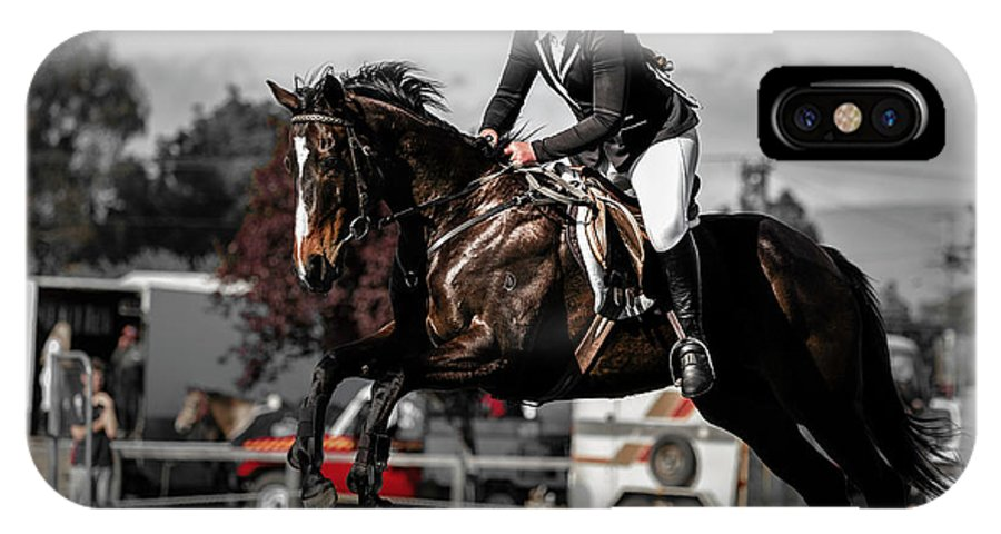 Horse 8 IPhone X Case featuring the photograph Longford 50 by Wild Artistic