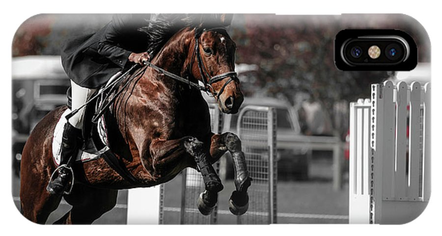 Horse 26 IPhone X Case featuring the photograph Longford 51 by Wild Artistic