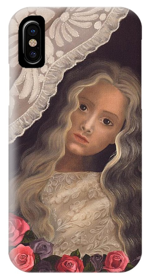 Victorian IPhone Case featuring the painting Longing by Brenda Ellis Sauro