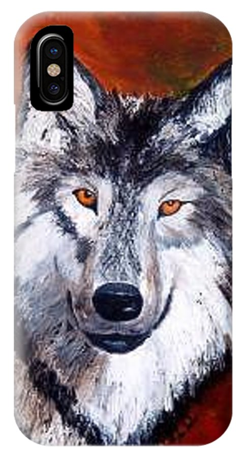 Palette Knife IPhone X Case featuring the painting Look Into My Eyes by Tami Booher