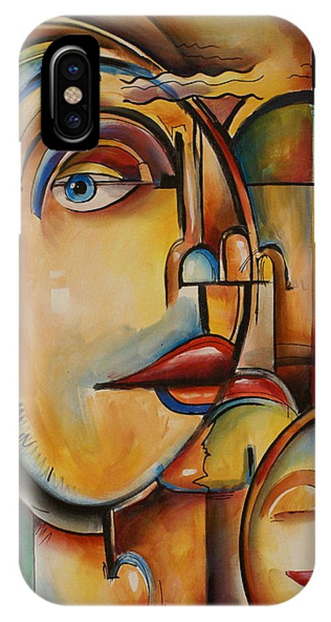 IPhone X Case featuring the painting Look by Michael Lang