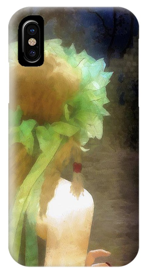 Fantasy IPhone X Case featuring the painting Looking Back - Long Lost Love by RC DeWinter