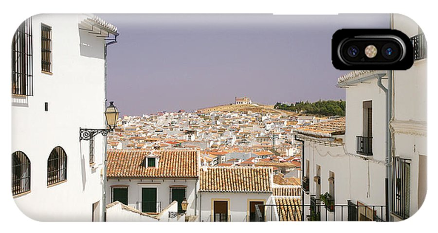 Antequera IPhone X Case featuring the photograph Looking Down Over Antequera From Near The Church Of Santa Maria La Mayor by Mal Bray