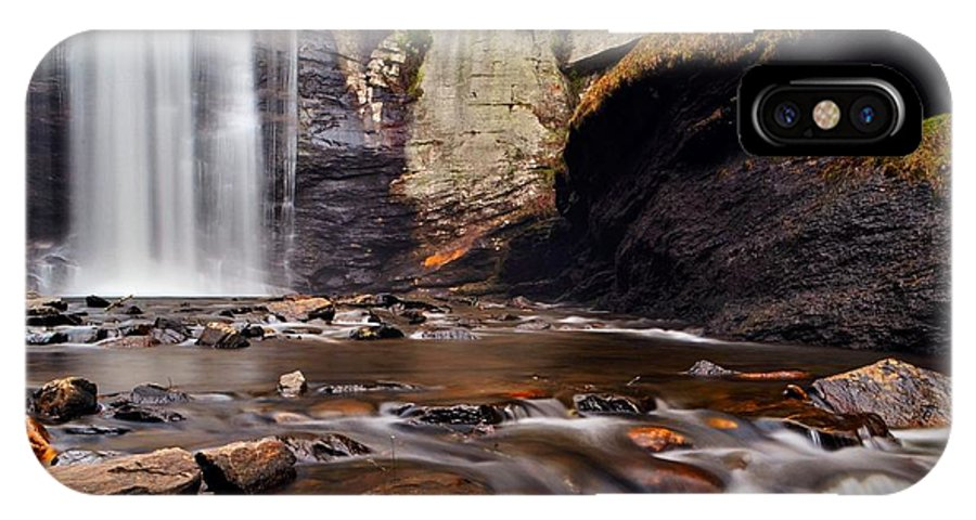 Water Falls IPhone X Case featuring the photograph Looking Glass Falls by Dennis Nelson