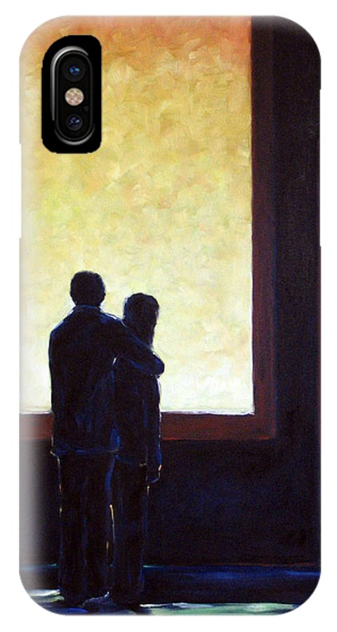 Pranke IPhone X Case featuring the painting Looking In Looking Out by Richard T Pranke