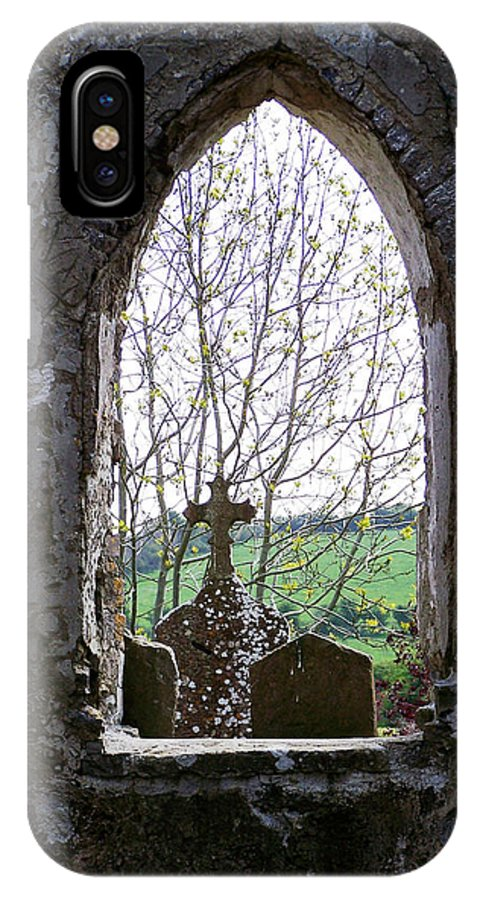 Ireland IPhone X Case featuring the photograph Looking Out Fuerty Church Roscommon Ireland by Teresa Mucha
