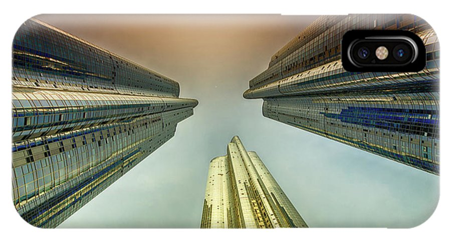 City IPhone X / XS Case featuring the photograph Looking Straight Up by Keith Homan
