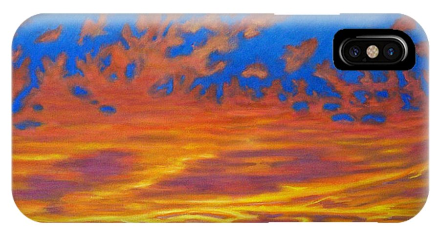 Landscape IPhone X Case featuring the painting Looking To The Southwest by Brian Commerford