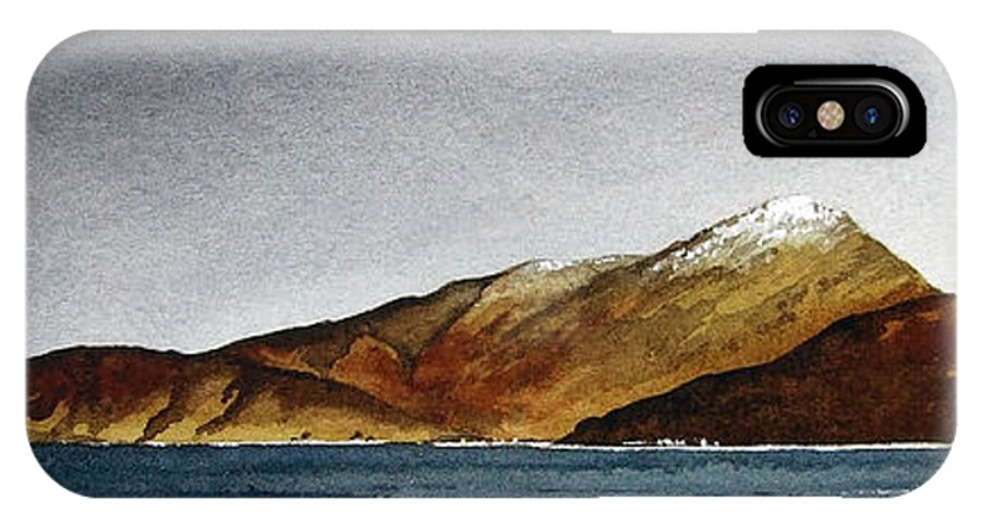 Seascape IPhone X Case featuring the painting Looking Towards Arran From Skipness by Paul Dene Marlor