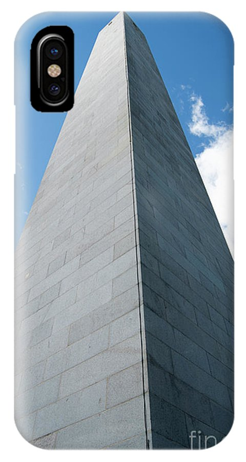 Bunker Hill Monument IPhone X Case featuring the photograph Looking Up At Bunker Hill by Michelle Himes