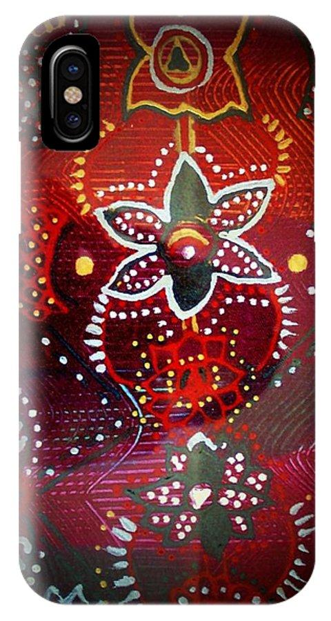 Lord Ganesha IPhone X Case featuring the mixed media Lord Ganesha Mirage by Vijay Sharon Govender