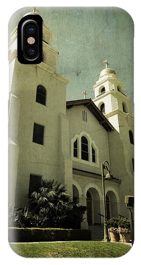 Church IPhone X Case featuring the photograph Beverly Hills Church by Scott Pellegrin