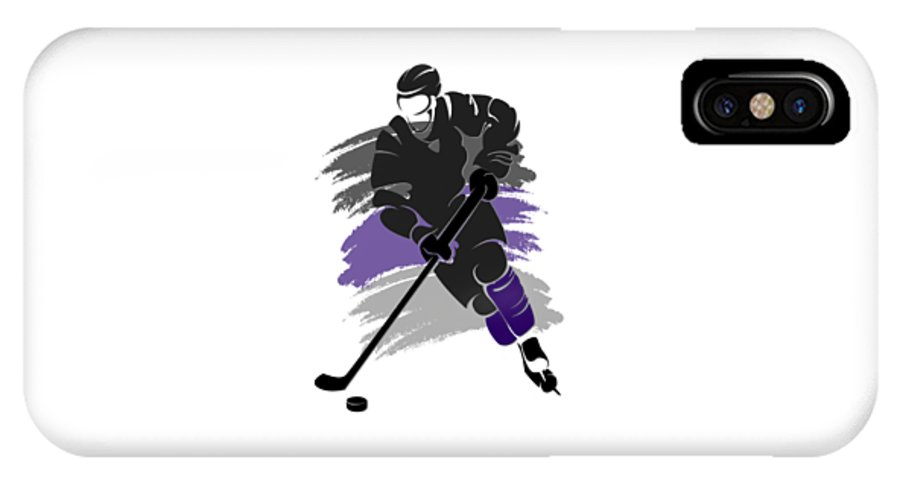 Kings IPhone X / XS Case featuring the photograph Los Angeles Kings Player Shirt by Joe Hamilton