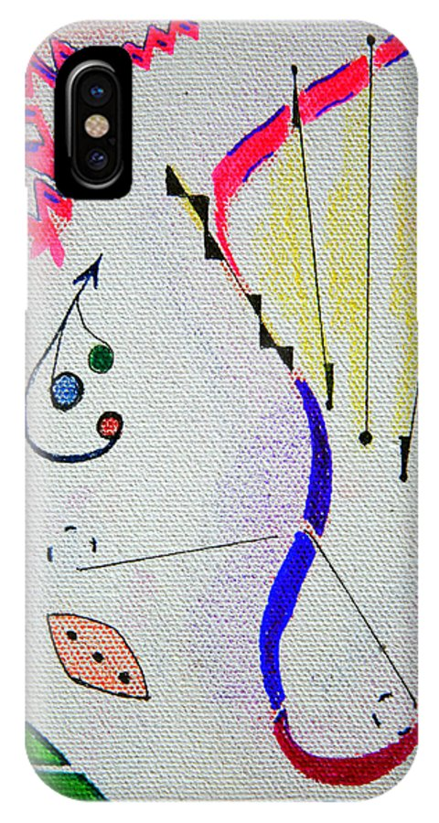 Abstract IPhone Case featuring the mixed media Lost Directions by J R Seymour