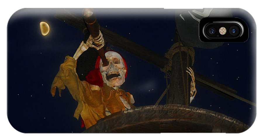 Pirate IPhone X Case featuring the painting Lost Dutchman by David Lee Thompson