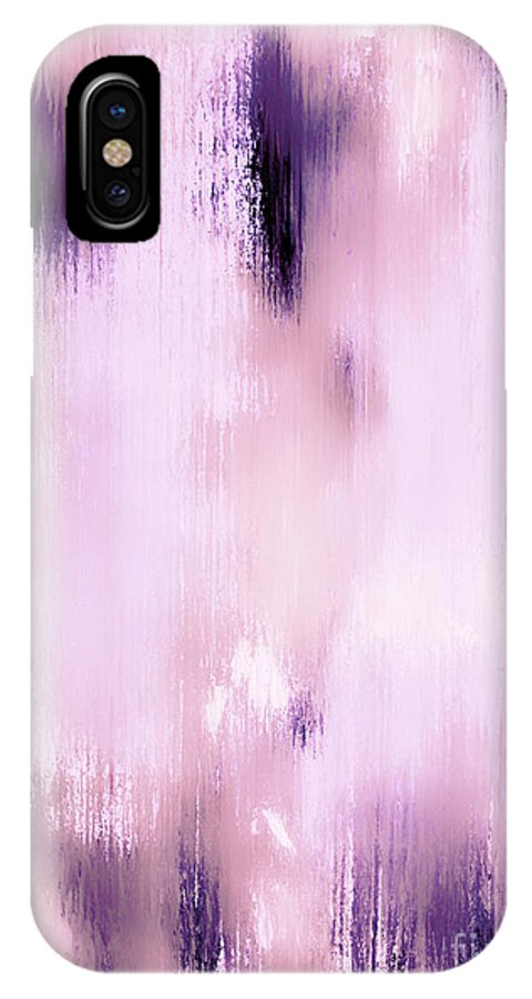 Abstract IPhone X / XS Case featuring the painting Lost In A Dream by Wayne Cantrell