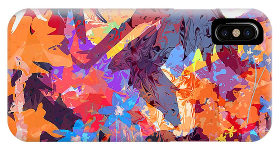 Abstract IPhone X Case featuring the digital art Lost In Colorado by Rachel Christine Nowicki