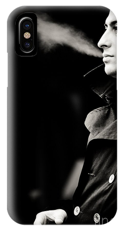 Young Man IPhone X Case featuring the photograph Lost In Thought by Gabriela Insuratelu