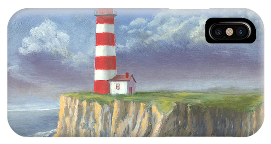 Light IPhone Case featuring the painting Lost Point Light by Jerry McElroy