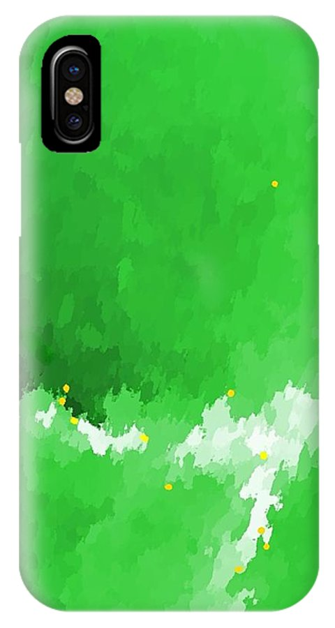 Abstract IPhone X Case featuring the digital art Lost To The Mists Of Time by Yshua The Painter