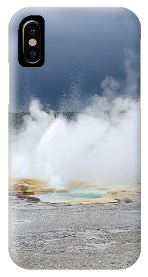 Hot Springs IPhone X Case featuring the photograph Lots Of Steam by Linda Kerkau