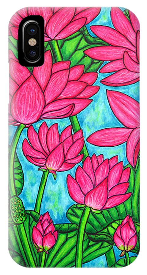 IPhone Case featuring the painting Lotus Bliss by Lisa Lorenz