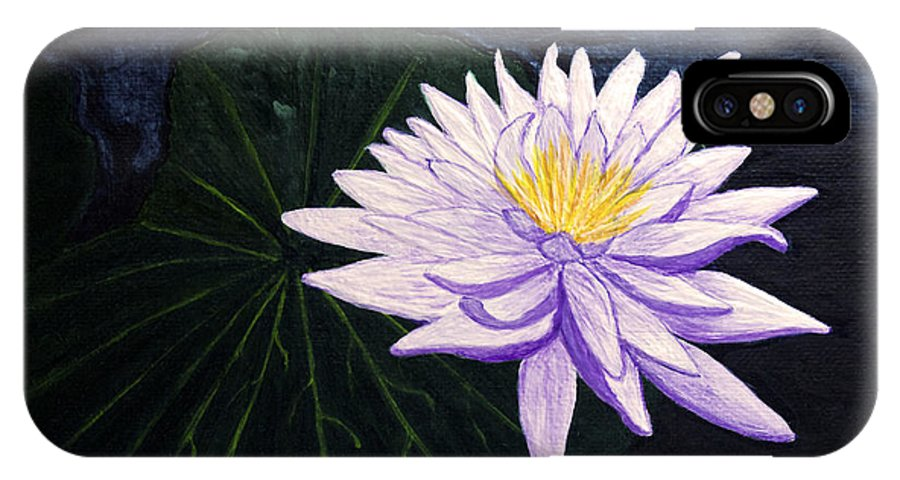 Original Painting IPhone Case featuring the painting Lotus Blossom At Night by Patricia Griffin Brett