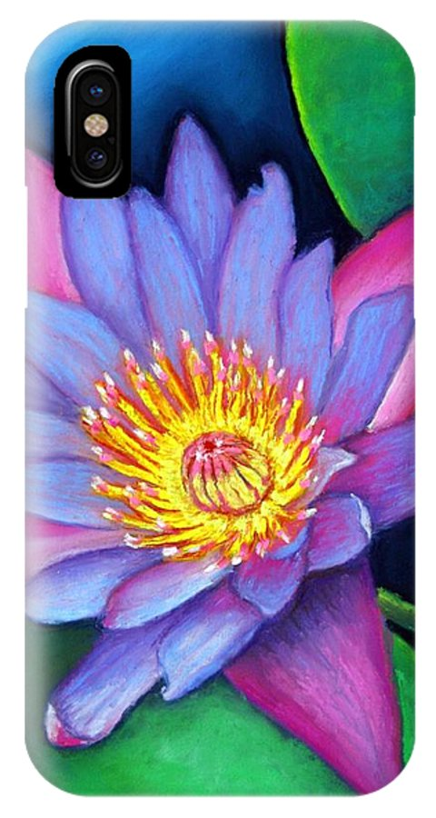 Flower IPhone X Case featuring the painting Lotus Divine by Minaz Jantz