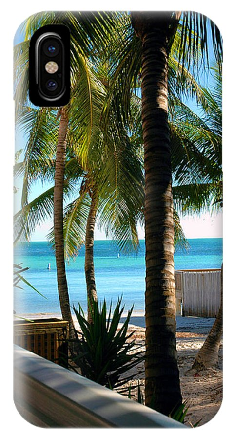 Photos Of Key West IPhone X Case featuring the photograph Louie's Backyard by Susanne Van Hulst