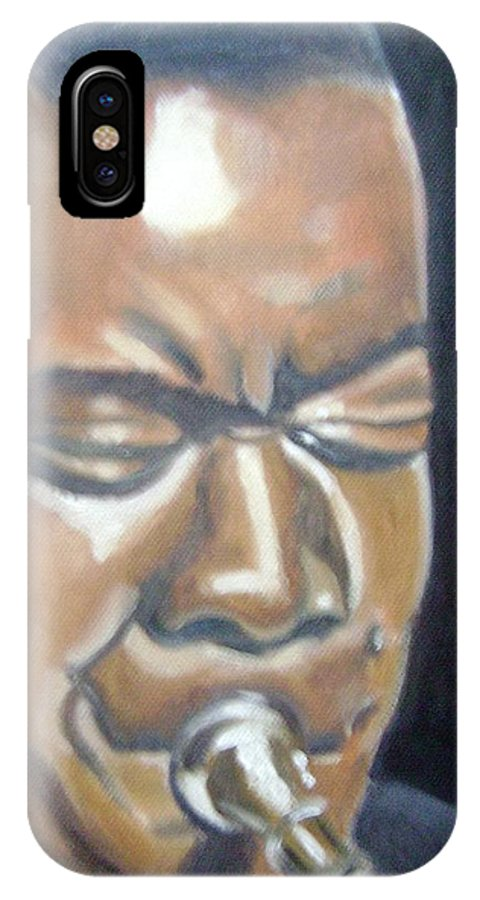 Louis Armstrong IPhone X / XS Case featuring the painting Louis Armstrong by Toni Berry