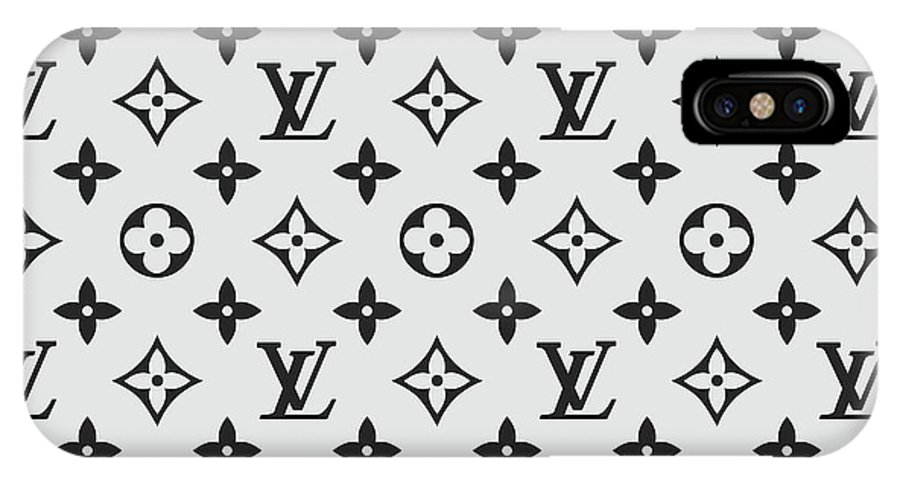 c217d6d158d Louis Vuitton Pattern Lv 07 Grey IPhone X Case