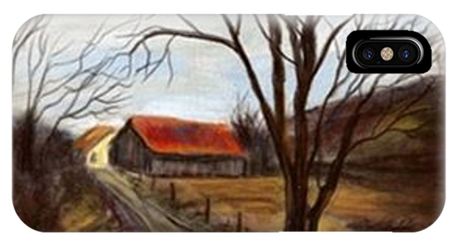 Barn IPhone X Case featuring the painting Louisa Kentucky Barn by Gail Kirtz