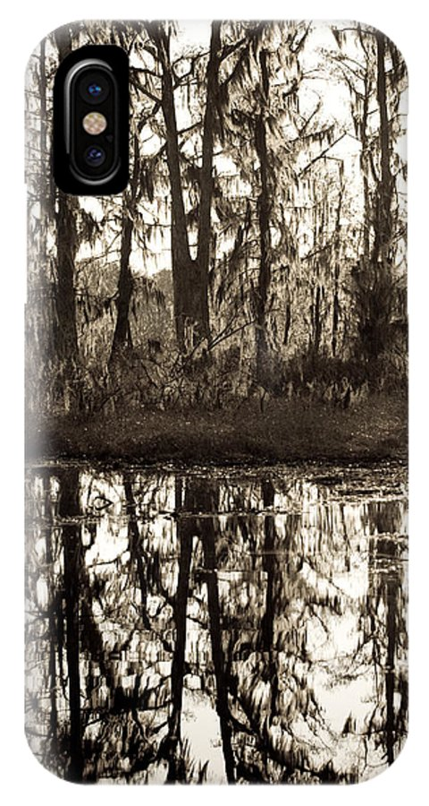 Trees; Landscape IPhone X Case featuring the photograph Louisiana Swamps 3 by Sally Mellish